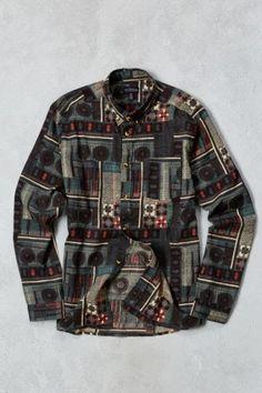 de301a07d50e9 CPO Printed Button-Down Shirt - Urban Outfitters