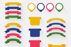 Free Colorful Ribbon Set By TheHungryJPEG