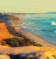 Can You See the Entire California Coast in a Single Trip? Carlsbad Beach, Carlsbad California, California Coast, Encinitas California, Southern California, Encinitas Beach, Cardiff By The Sea, Cardiff Beach, Ocean Shores