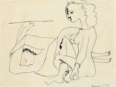 PABLO PICASSO  Femmes sur la nage (B. 452; M. 101)  lithograph, 1947, on Arches, signed in pencil, numbered 13/50