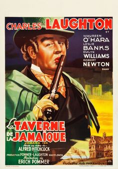 French poster for Jamaica Inn (Alfred Hitchcock, UK, 1939).