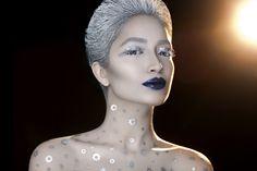#fatimanasir #creative #makeup #makeupartist #ka'oir #icehair #kryolan #maccosmetics #icequeen #paperself #facelace Ice Hair, Face Lace, Facebook Business, Ice Queen, Dark Beauty, Mac Cosmetics, Entrepreneur, My Photos, Led