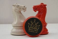 Stunning Contemporary Cream and Burnt Orange Chess Set - King Height 4.25 inch. Base Diameter 1.75 inch. 70g Triple Weighted. Balance 18% Certificate of Authenticity included. This product is from ChessBaron.co.uk What comes from an artist who loves fine chess? This beautiful contemporary chess set! See more at: www.chessbaron.co.uk #chess #chesssets #luxurychessset #chessgame #chessset #chessbaron.co.uk