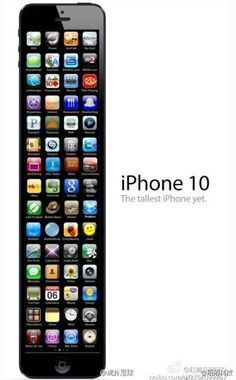 Soooo true. I am pretty sure that this is what its going to look like!!!!  Lol. Put an iphone 6 plus beside a 3gs and the 3gs looks like a mini iphone!!!!