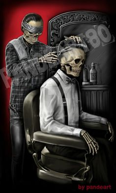 barbershop skull by pandeart80 on DeviantArt