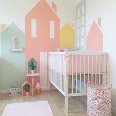 •Dagens inspo• Så effektfullt det bli med hus på väggarna, kanske ett helg projekt för er?! @lindajohansen86 ...