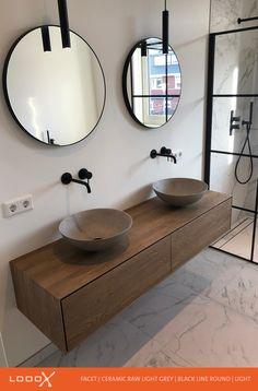 Pool Bathroom, Modern Bathroom, Bathroom Lighting, Dream Bathrooms, Bathroom Inspiration, Luxury Homes, New Homes, Vanity, Interior Design