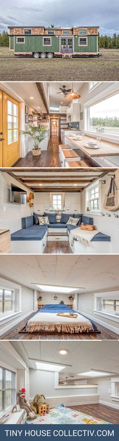 A 375 sq ft tiny house, designed for a family with young children!