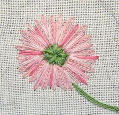 IMG 7438 Last flower finished its pink! I love the use of the different stitches