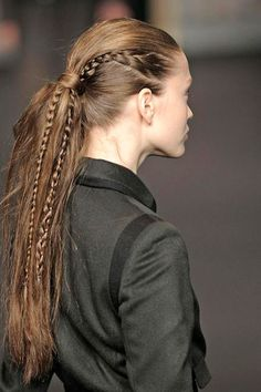 60 Best Long Ponytail Hairstyles 2017 that can be different from special events to casual looks. Long Ponytail Hairstyles, Long Ponytails, Weave Hairstyles, Hairstyles 2018, African Hairstyles, Natural Hair Styles, Short Hair Styles, Hair Styles Cool, Runway Hair