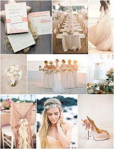blush beach wedding inspiration on French Wedding Style