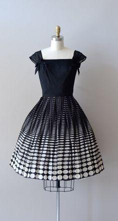 vintage 50s ombre dress