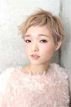 9.Cute Asian Pixie Cut