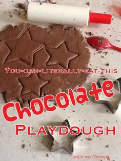 Chocolate play dough for toddlers and preschoolers. Edible Crafts, Easy Diy Crafts, Diy Crafts For Kids, Toddler Play, Toddler Crafts, The Chocolate Touch, Silly Putty, Homemade Art, Homemade Playdough