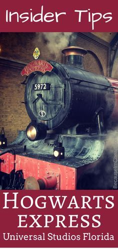 Insider Tips for the Hogwarts Express in Universal Studios Florida #HarryPotter
