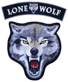 Lone Wolf Growling Wolf 2 PC Rocker Set Biker Patch – Quality Biker Patches Beautiful lone wolf patch for animal lovers or lone wolves. Great gift for bikers.
