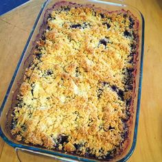 Fab Everyday | Because Everyday Life Should be Fabulous | www.fabeveryday.com: Keto Blueberry Cream Cheese Crumble Recipe