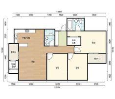 평면도 Apartment Layout, Apartment Plans, Korea Apartment, Interior And Exterior, Interior Design, Architecture Plan, My Dream Home, My House, House Plans
