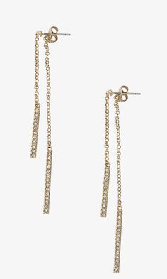 Double Pave Stick Drop Earrings   Express $26.50