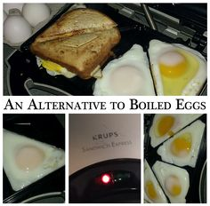 We had some almost expiring eggs in our fridge. The thought of boiling and then tediously peeling them made me want to cringe. I though...