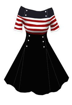 Nautical retro dress - <3 this dress