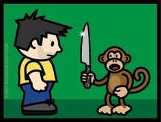 What is more scarier than a monkey picking up a knife? Read on to find out.  http://www.sufi-stories.com/the-knife #sufistoriesforyou #wisdomtales #sufism