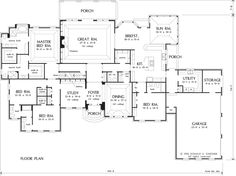 First Floor Plan of The Avery - House Plan Number 482