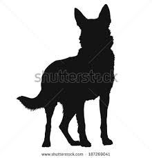 Image result for german shepherd silhouette