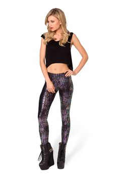 I Eat Oily Mice Leggings - LIMITED by Black Milk Clothing $80AUD