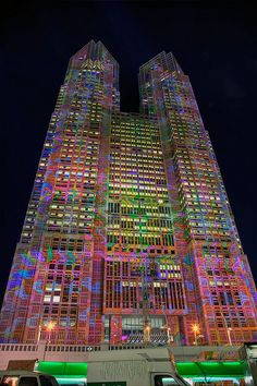 Tokyo City Hall Art Projections by tokyofashion, via Flickr