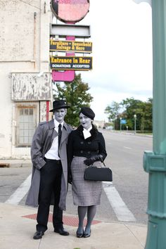 Grayscale Film Noir Costumes - Making Nice in the Midwest