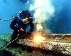 HYPERBARIC WELDING :- Hyperbaric welding is the process of welding at elevated pressures, normally underwater.