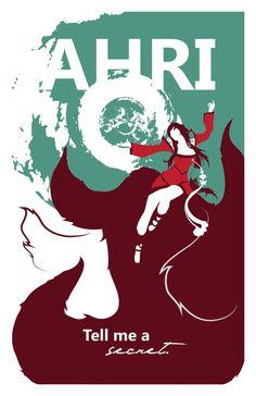 Ahri: League of Legends Print por pharafax en Etsy