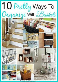 Organizing with baskets