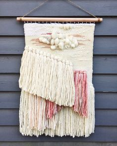 Large Handwoven Tapestry by KatKingTapestries on Etsy Neutral Colour Palette, Tapestry Wall Hanging, Fiber Art, Taupe, Hand Weaving, Burgundy, Just For You, Texture, Embroidery