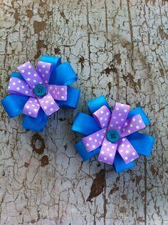 Flower Hair Bows