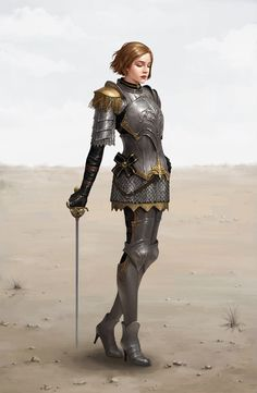 I thought this was awesome until I saw the high heels. Seriously??? Let's just pretend they aren't there. Knight by moogyu.deviantart.com on @DeviantArt