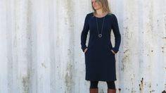 Vielseitiges Sweatkleid Frau Fannie Nähanleitung UND Schnittmuster - Schnittmuster und Nähanleitungen bei makerist