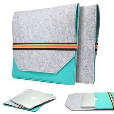 15,4 Zoll Laptoptasche im PREMIUM Filz Design von Urcover® [deutscher Fachhandel] Laptop Hülle für optimalen Schutz auch perfekt als iPad Hülle oder Tablet Tasche Grau/Türkis 23,90€