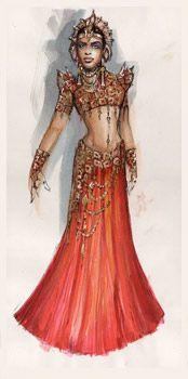 The Vampire Chronicles Photo: Akasha - costume concept art Vampire Love, Vampire Art, Aaliyah Singer, Queen Of The Damned, The Vampire Chronicles, Fantasy Dress, Movie Costumes, Costume Makeup, Dark Fantasy
