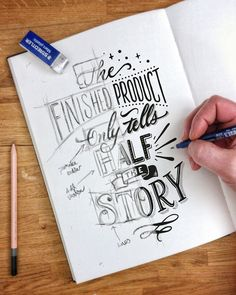 Hand Lettering Quotes, Calligraphy Quotes, Creative Lettering, Calligraphy Letters, Typography Letters, Brush Lettering, Lettering Design, Typography Sketch, Pencil Calligraphy