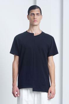 Mens Black Asymetric T-shirt   Eliran Nargassi   NOT JUST A LABEL