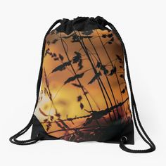 Bring the calming, warm morning sun with you with this georgous Drawstring Bag. Shine all day! Backpack Bags, Drawstring Backpack, Morning Sun, Other Accessories, Calming, Woven Fabric, Bring It On, Backpacks