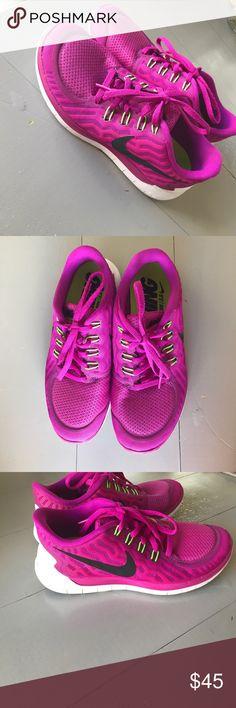 45234fb55f96d Nike free run 5.0 Fuchsia Nike free runs! Worn a few times. Super  comfortable