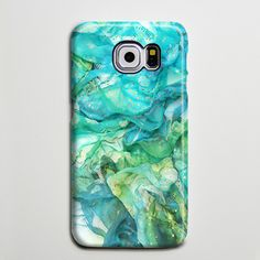 Abstract Blue Silk Green iPhone 6 Galaxy s6 Edge Case Galaxy s6 Case Samsung Galaxy Note 5 Case s6-141