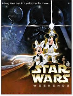 Mickey Mouse and Minnie Mouse Star Wars Weekends movie poster.