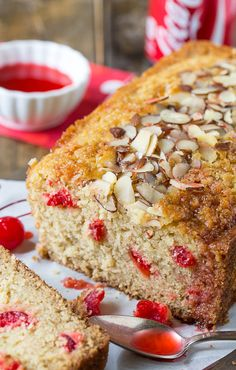 Cherry Almond Cola Bread. Looks yummy and the mix of ingredients are intriguing...  I'm definitely making this one over the weekend!