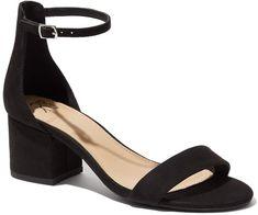 New York & Company Block-Heel Faux-Suede Sandal