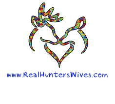 Real Hunters Wives Buck and Doe Heart Autism Logo Decal 4X5. $7.00, via Etsy. I think this is going to be my next tattoo