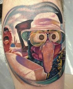 This googly-eyed Gonzo was done by Lee O'Gorman. and i totally think this is great. cracks me up. ;)